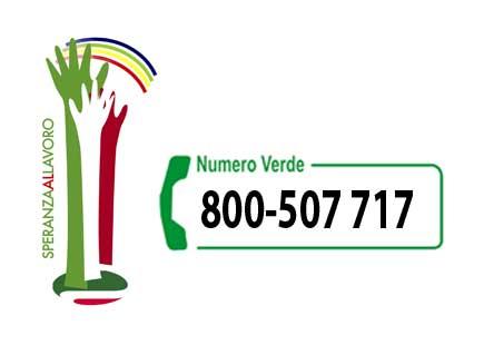 SPERANZAALLAVORO ATTIVA NUMERO VERDE 800 507 717